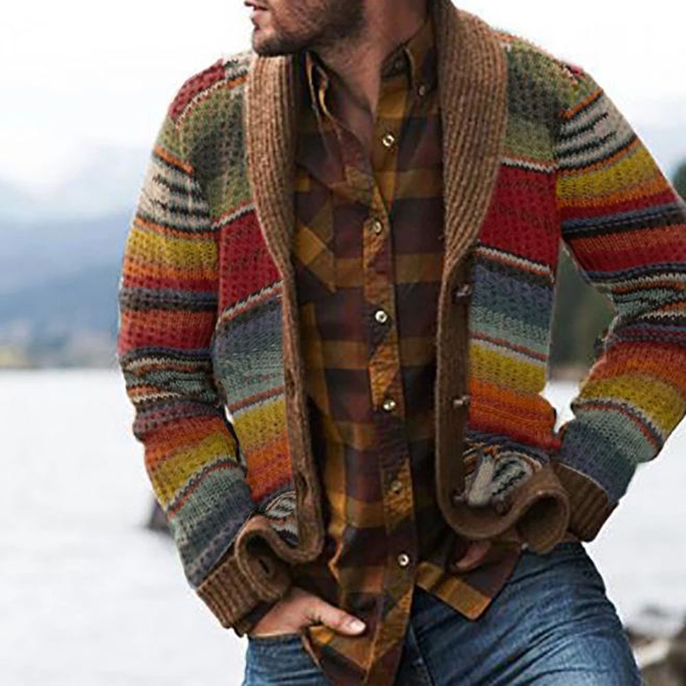 Autumn Men's Sweater Hoodies Casual Long Sleeves Thickening Warm Trend Shirt Sweaters Jackets Classic Cardigan Sweater Coat Men 2