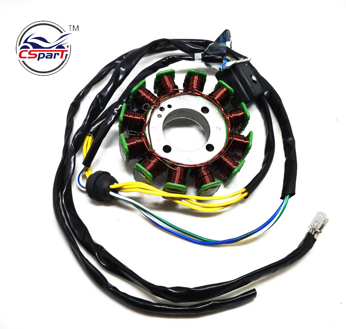 Magneto Stator 12 Pole Coil 5 Wire 200C 250CC CG Bashan Shineray Jinling Taotao Dirt Pit Bike ATV Quad Parts