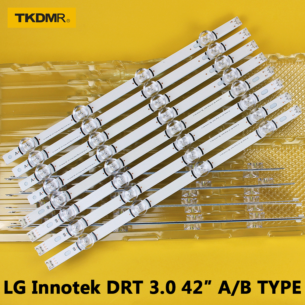 100% New-original 8 PCS/set LED Backlight Strip For LG LC420DUE 42LB3910 INNOTEK DRT 3.0 42 Inch A B 6916L-1709A 6916L-1710A