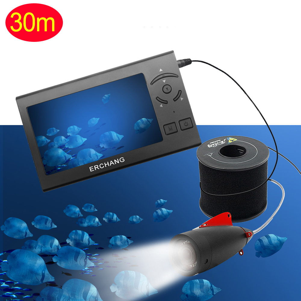 1000TVL 4,3 дюйма 15 м кабель рыболокатор 8 шт. Белый светодиодный регулируемый светильник для подводной съемки камера для рыбалки с ЖК-монитором Fishfinder - Цвет: 30m cable