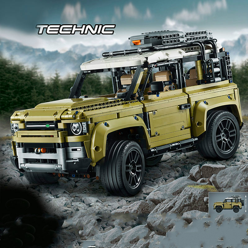 New Compatible Lepining Technic Car Series Supercar Land Rover Guardian Off-road Vehicle Model Building Blocks BricksToys42110