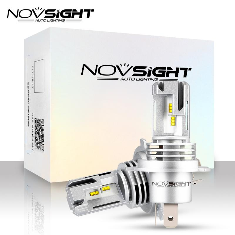 2pcs Novsight A500-N30S H1 H3 H4 H7 H11 9005 9006 Car Headlight Bulb 55W 6000K White 10,000LM/Pair IP68 Rated Waterproof