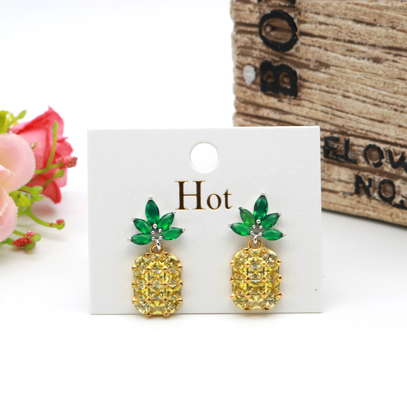 4x5cm Concise Earrings Display White Paper Card With Gold Hot 100pcs/lot Fashion Jewelry Ear Stud Packing Labels Customized Logo image