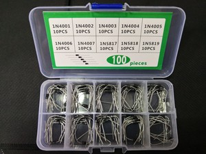 1box 100pcs=10Value*10pcs rectifier box IN5819 1N5818 1N5817 1N4001 1N4002 1N4003 1N4004 1N4005 1N4006 1N4007 Assorted diode kit