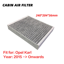 Cabin Filter for Opel Karl (2015 Onwards) Activated High Carbon Pollen Air Filters Better than original 1pc