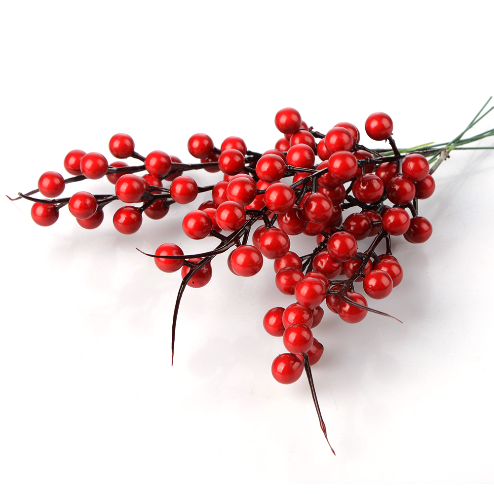 Christmas Berry Artificial Pine Cone For Christmas Decoration Fake Flower Artificial Pine Tree Branch DIY Home Party Decor-5