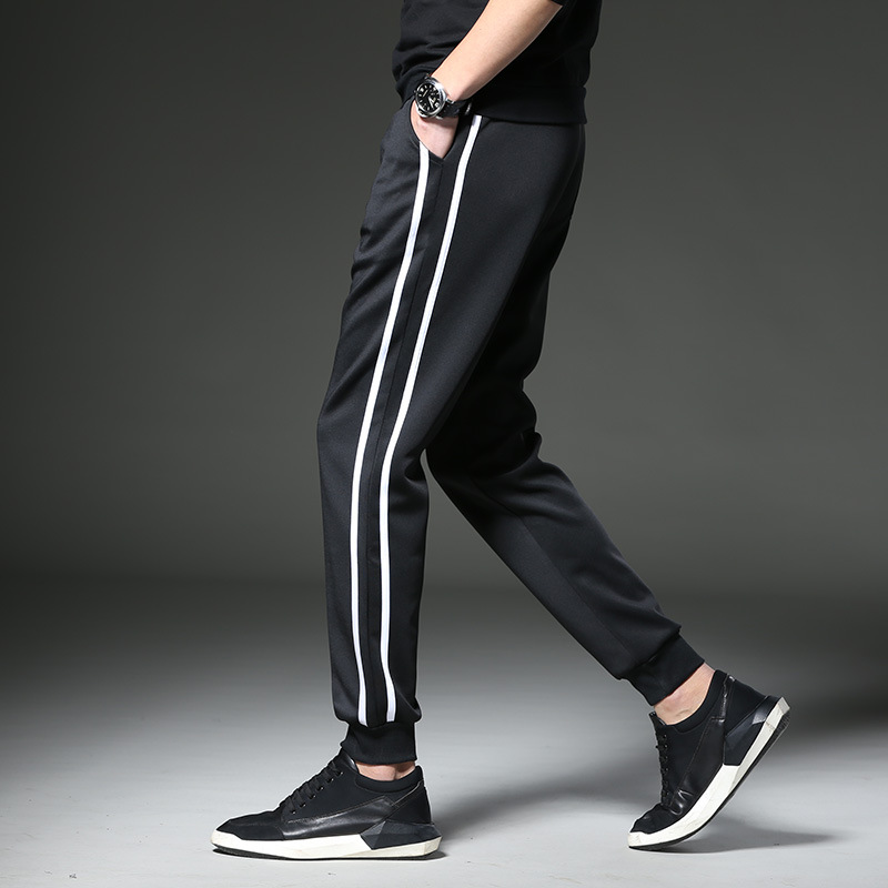 Elasticity Casual Pants Men's Spring Summer Thin Section Men Ankle Banded Pants Harem Pants Trousers Pants Sports Straight-Cut S