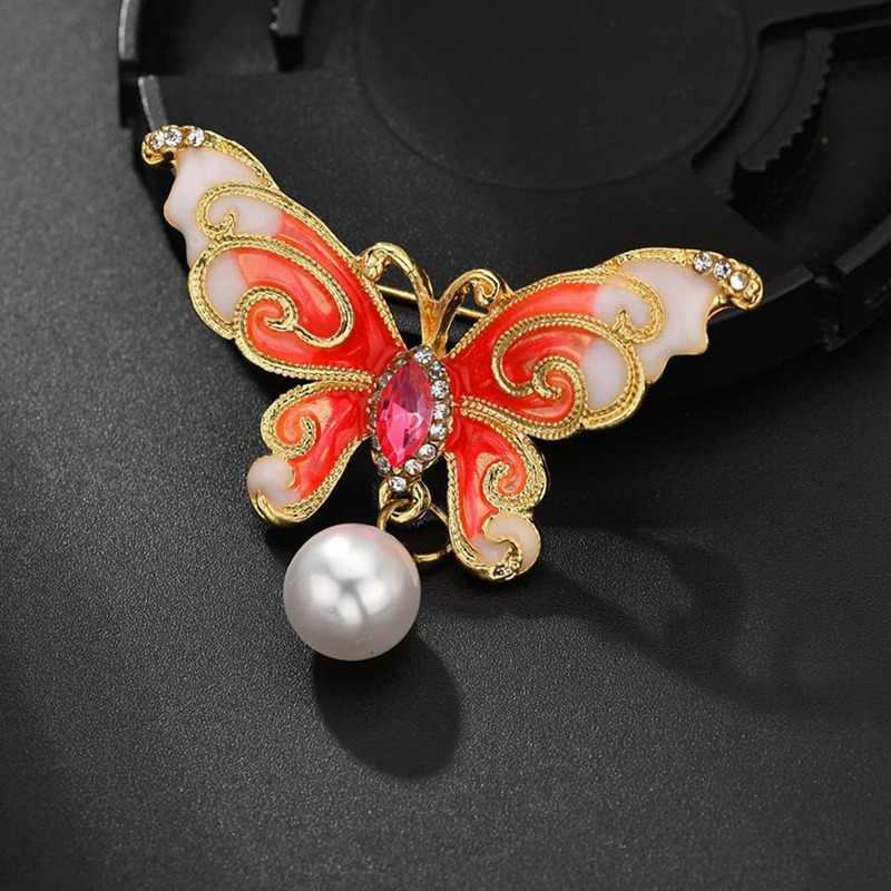 Enamel Butterfly Brooches for Men And Women's Metal Rhinestone Insects Banquet Wedding Bouquet Brooch Gifts Jewelry pins