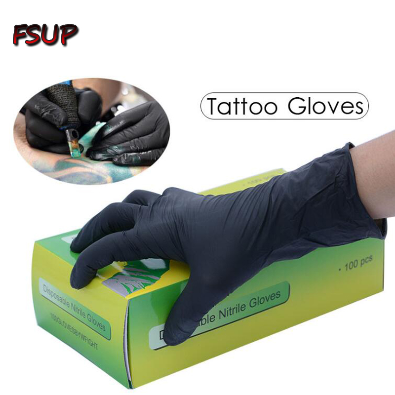 100 Pcs  Disposable Nitrile Gloves Work Glove Food Prep Cooking Gloves / Kitchen Food  Waterproof Service Cleaning Gloves