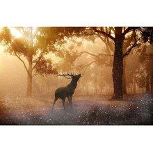 MEIVN 5D DIY Diamond Painting Elk in the jungle Full Square Diamond Embroidery Animal Rhinestones Pictures Crafts Kit