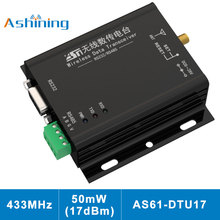 цена на Wireless Communication Data Transmitter and Receiver AS61-DTU17 RF Module RS485 RS232 17dBm 2.5Km 433MHz