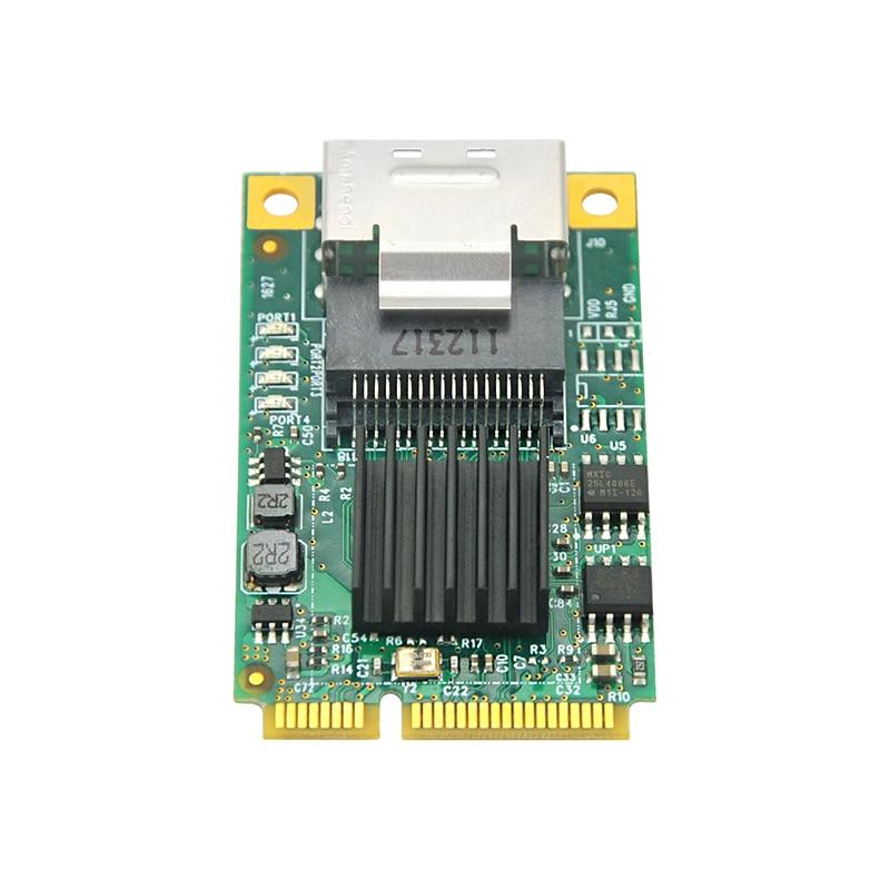 Linkreal.cn SATA III Mini PCIe Controller Card Mini PCIe to 4-Port SATA 3.0 6Gbps Adapter Expansion Controller Card for 2.5 SATA III SSD Drives-LRST8615-4I