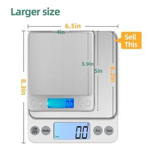 Image 2 - KUBEI قابلة للشحن أكبر حجم 5 كجم 0.1 جرام/10 كجم 1 جرام مقياس المطبخ الإلكترونية للأغذية القهوة مجوهرات الدقة LCD مقياس رقمي