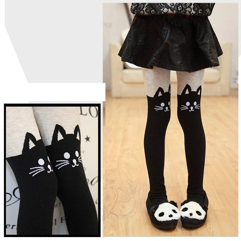 Cat winter knitting baby tights for girls kids Children Stockings Girls Pantyhose Infant For Girl stockings