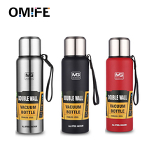 Omife Outdoor Thermos Bottle 500ml 750 1000 1500 Travel Mug Insulated cups Vacuum Flask Kettle Stainless Steel Tumbler