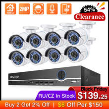 Techage 8CH 1080P NVR Kit POE Security Outdoor Waterproof Camera System 2MP Audio IP Camera IR Cut CCTV Video Surveillance Set