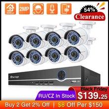 Techage 8CH 1080P NVR комплект POE безопасности наружная Водонепроницаемая камера система 2MP аудио IP Камера IR Cut CCTV комплект видеонаблюдения
