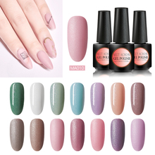 цена на MEET ACROSS Gel Nail Polish Sweet Pink Color Gel Manicure LED UV Gel Varnish Nail Art Varnish Soak Off Nail Gel Polish Lacquer
