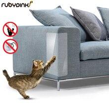 Комплект из 2 предметов, защита от царапин для домашних животных, клей для когтей, угловая защита для кошек из ПВХ, Когтеточка для мебели, защитный коврик для дивана, лапа для котенка