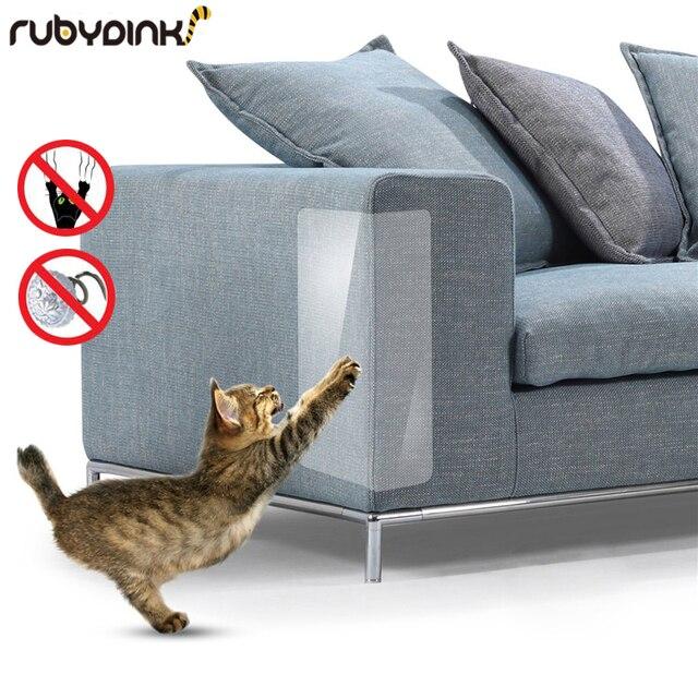 2Pcs Set Anti Scratch Pet Guard Cat Scratching Adhesive Corner Guard PVC Cat Scratchers Furniture Couch Protector Kitten Paw Pad 1