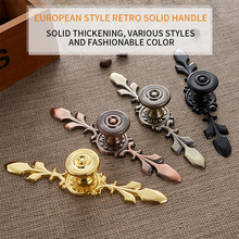 цена на European Modern Wardrobe Furniture Drawer Pulls Cabinet Knobs Hardware Bronze Handles Kitchen Door Cupboard Zinc Alloy