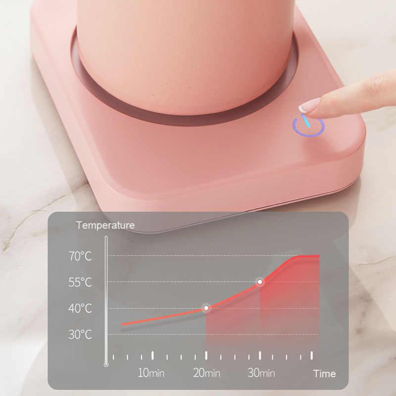 マグカップオフィスデスク 3 温度設定で使用するため温暖化プレートココア茶水ミルク 8h オートオフ保護