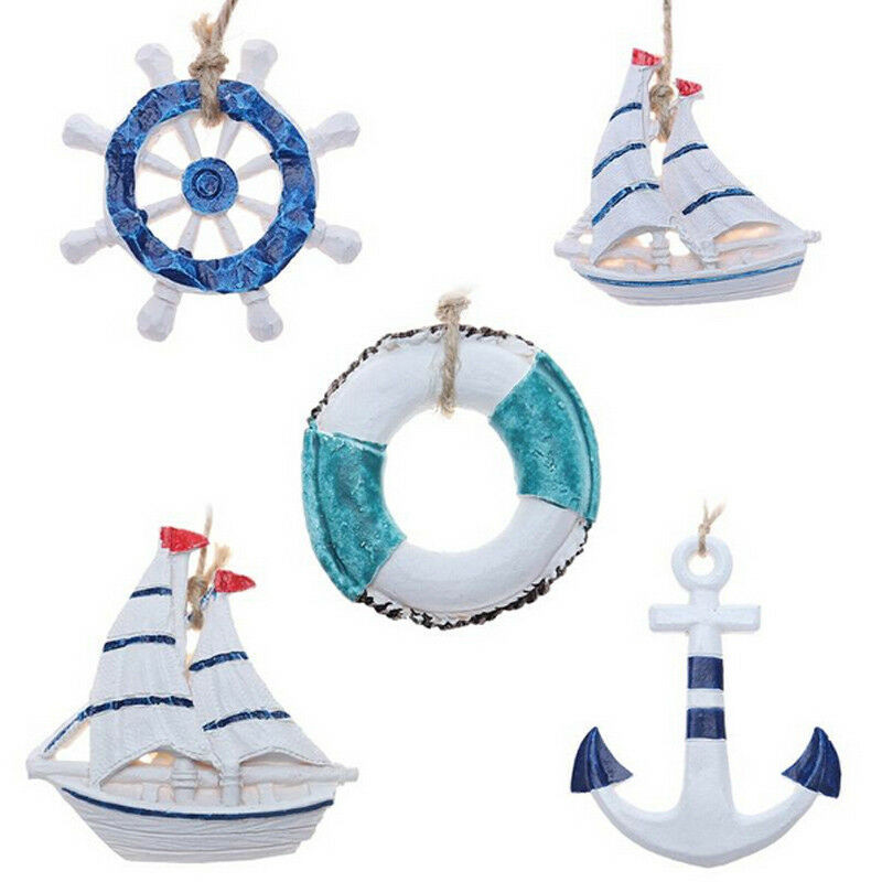 Wooden Handmade Rudder Sea Life Nautical Theme Home Wall Ornament Hanging Decoration Small Miniatures Decor Home Crafts