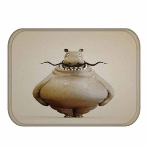 Image 2 - 1 40*60cm 귀여운 동물 패턴 미끄럼 방지 동물 플란넬 두꺼운 카펫 도어 매트 주방 미끄럼 방지 매트 야외 거실 바닥 매트