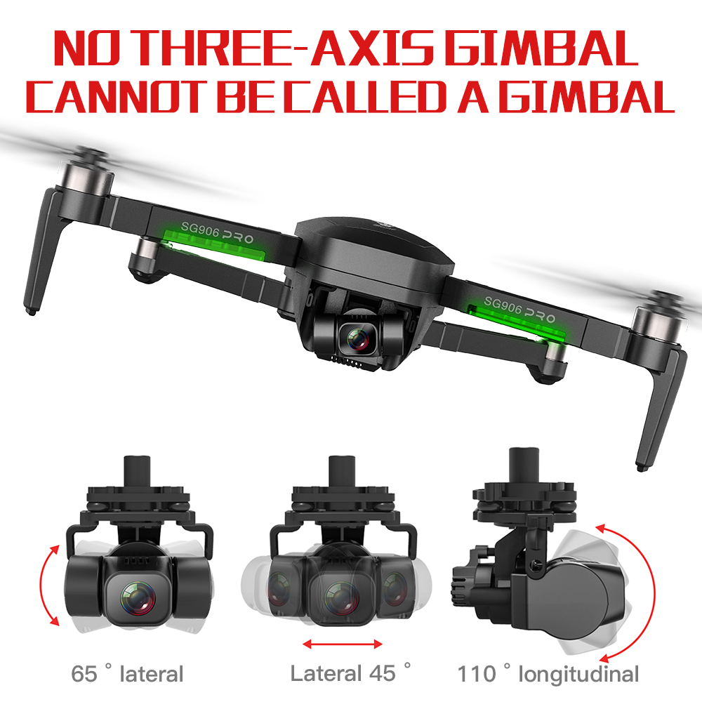 SG906 Pro 2 Drone 3-axis gimbal with GPS 4K 5G WIFI Dual camera professional ESC 50X Zoom Brushless Quadcopter BEAST RC Dron 1