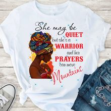 God Says You Are Black Girl is Beautiful Magic Tshirt Melanin Women T Shirt Femme Vogue Black Lives Matter Juneteenth Tops(China)