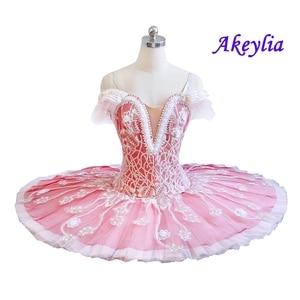 Image 4 - Tutu pour le ballet professionnel pour adultes, crème beige, tutu à fleurs, poupée féerique, classique, costume de scène rouge