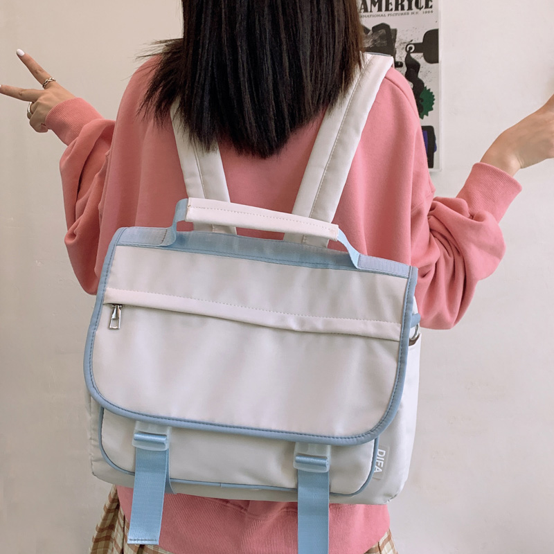 DCIMOR New Multifunction Waterproof Nylon Women Backpack Fashion Button Portable Small School Bag High Quality Female Backpacks