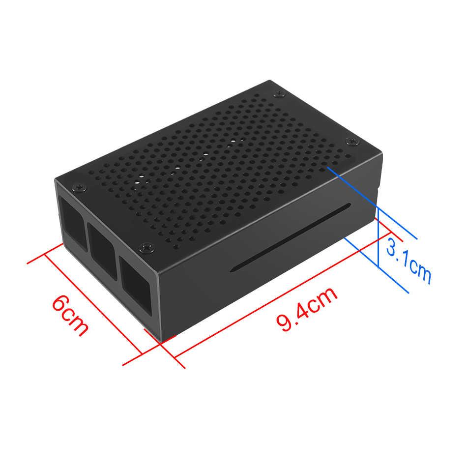 Raspberry Pi 4 Case Aluminium Case Zwart Zilver Doos Metalen Behuizing voor Raspberry PI 4 Model B