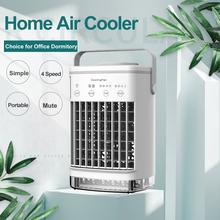 Przenośny klimatyzator użytku domowego Mini chłodnica powietrzna przenośna klimatyzacja dla biura 4 biegów prędkości wentylator chłodzący nawilżacz tanie tanio AFDEAL Rohs CN (pochodzenie) DC 5V MAX 7W ≥2 8 m s ≥100ml h air conditioning portable air conditioning portable air conditioner