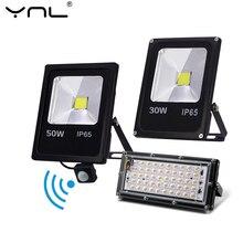Motion Sensor LED FloodLight 220V 50W 30W 10W Outdoor Lighting Waterproof IP65 Reflector Led Flood Light Spotlight Exterieur