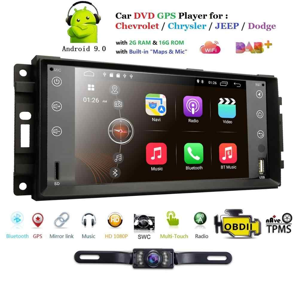 Monitor de coche Android 9,0 GPS Player Para Jeep Compass (2009-2011) Patriota (2009-2011) Grand Cherokee (2008-2011) Wrangler calibre