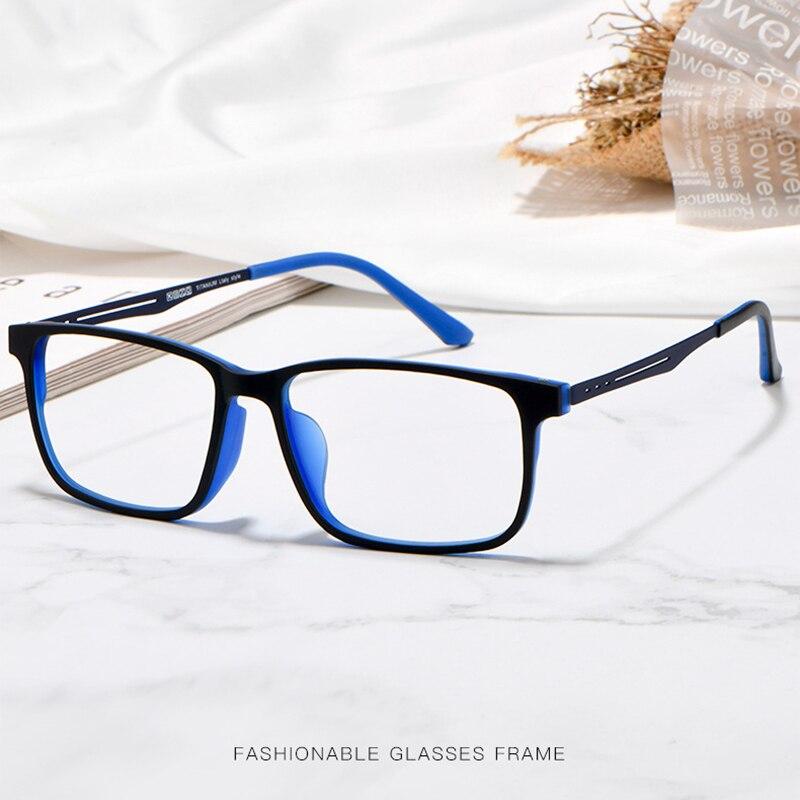 Image 5 - Nowe jakościowe okulary optyczne rama dla mężczyzn i kobiet okulary elastyczne tytanowe nogi świątyni TR 90 ramki przedniej obręczyRamki do okularów   -