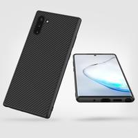 Do Samsung Galaxy Note 10 + Pro przypadku Nillkin włókno syntetyczne tylna pokrywa PC etui na telefon dla Samsung Note 10 uwaga 10 Plus 5G przypadku w Dopasowane obudowy od Telefony komórkowe i telekomunikacja na