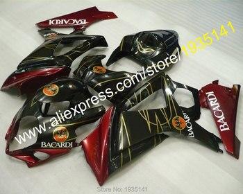Red black motorcycle parts For Suzuki GSX-R1000 K7 07 08 GSXR1000 GSX R1000 GSXR 2007 2008 Fairing (Injection molding)