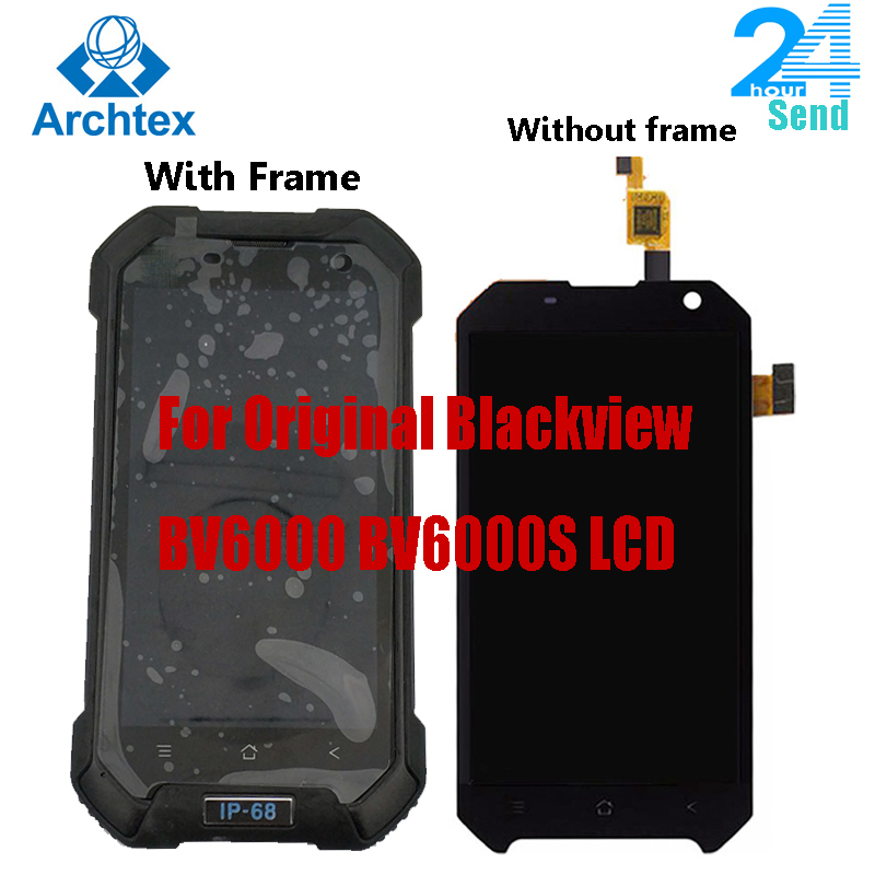 4.7 inch For Original Blackview BV6000S <font><b>BV6000</b></font> <font><b>LCD</b></font> Display +Touch Screen Digitizer Assembly 1280x720 All Version Android 7.0 6.0 image