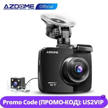 AZDOME GS63H 4K/2880*2160P WiFi Car DVRs Recorder Dash Cam Dual Lens Vehicle Rear Camera Built in GPS WDR Night Vision Dashcam