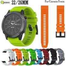 Bracelet de montre en Silicone à dégagement rapide, 22 26mm, pour Garmin Fenix 6X /Fenix 6 /5X/5/ Fenix 3 3 HR 945 935 Easyfit sport