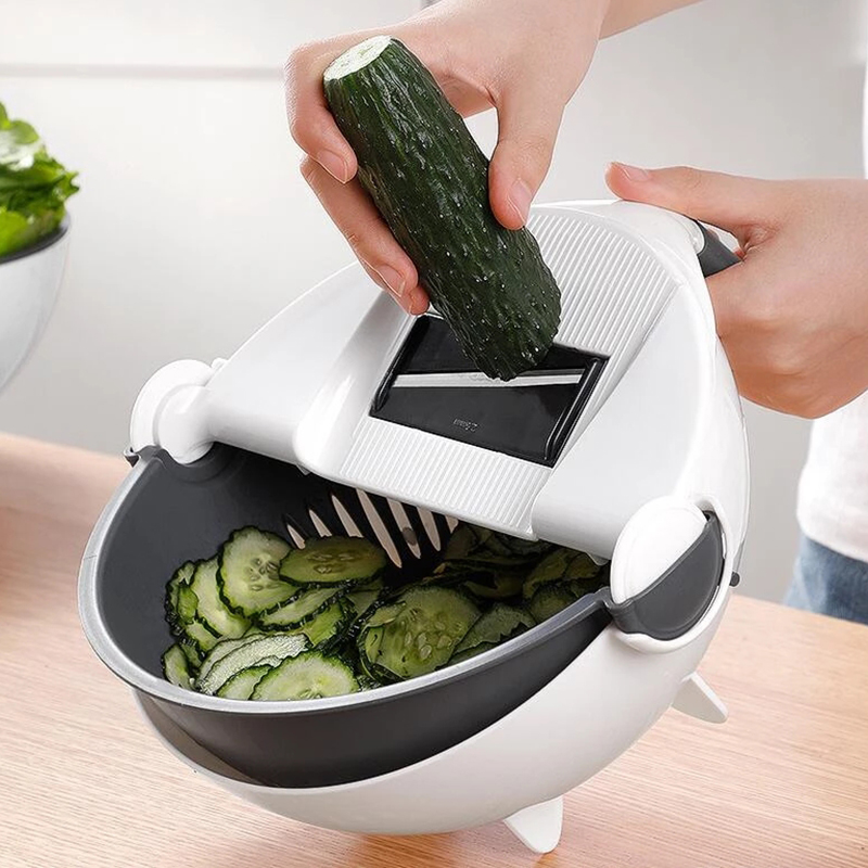 H7c5f1507b8a64342a72255d4a0da8e86p - Magic Multifunctional Rotate Vegetable Cutter With Drain Basket Kitchen