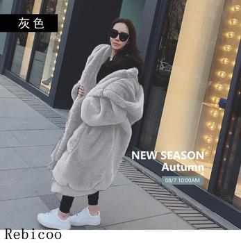 Oversized Winter Faux Fur Coat Women Parka Long Warm Faux Fur Jacket Coats Hoodies Loose Winter Coat Outwear casaco feminino 10