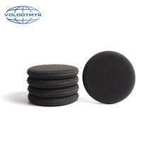 Volodymyr Wax Sponge Black 13 Cm Diameter Waxing Pad Car Cleaner Quick Detailer for Detailing Detail Car Clean Carwash Auto Care
