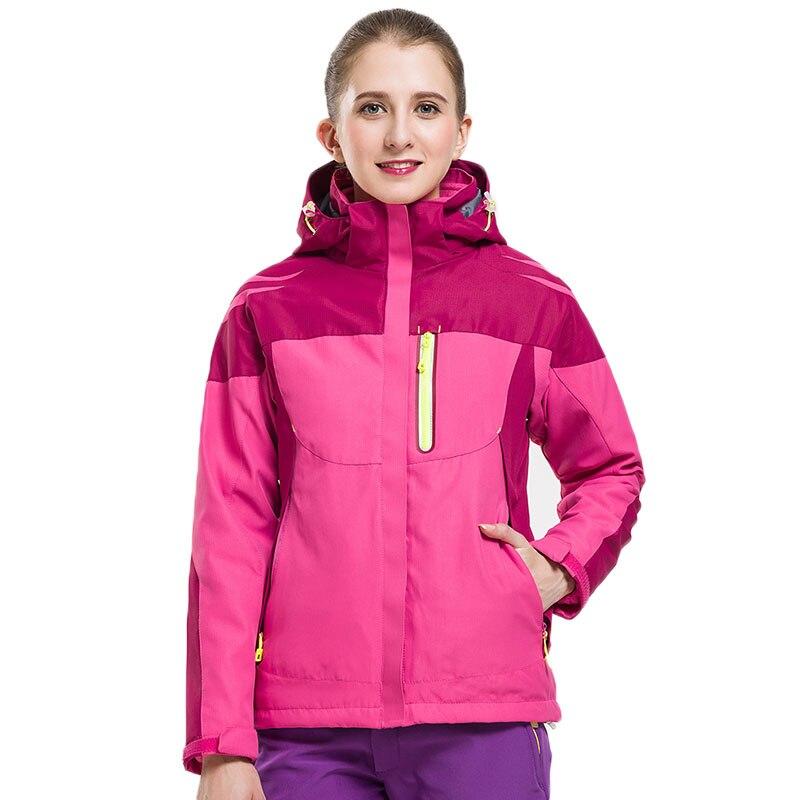 Veste d'hiver femme Double couche veste manteau à capuche neige survêtement sport randonnée ski camping chasse voyage veste