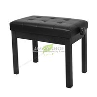 35%Electronic Organ Chair Solid Wood Thickening Piano Stool Solo Train Music Stool Lift Adjust Children Bookcase Bear 300KG