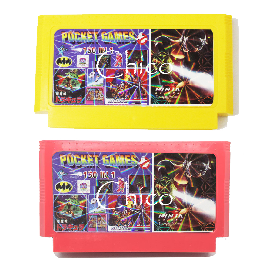 Hot 150 in 1 for 8 bit video Game Console Game Cartridge with Rockman 1 2