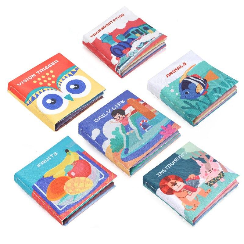 montessori bebe livro macio tecido animal fruto sensorial pano livro para bebes crianca aprendizagem interativa brinquedo