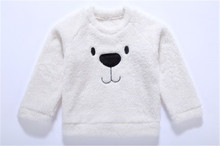 Infant Toddler Baby Girl Clothes Boy Tops Sweater Velvet Thick Clothing For 1-5 Years